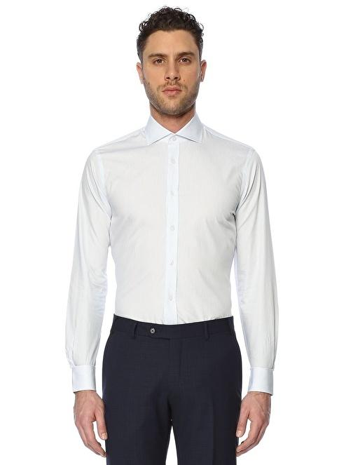 Beymen Collection Uzun Kollu Klasik Gömlek Mavi